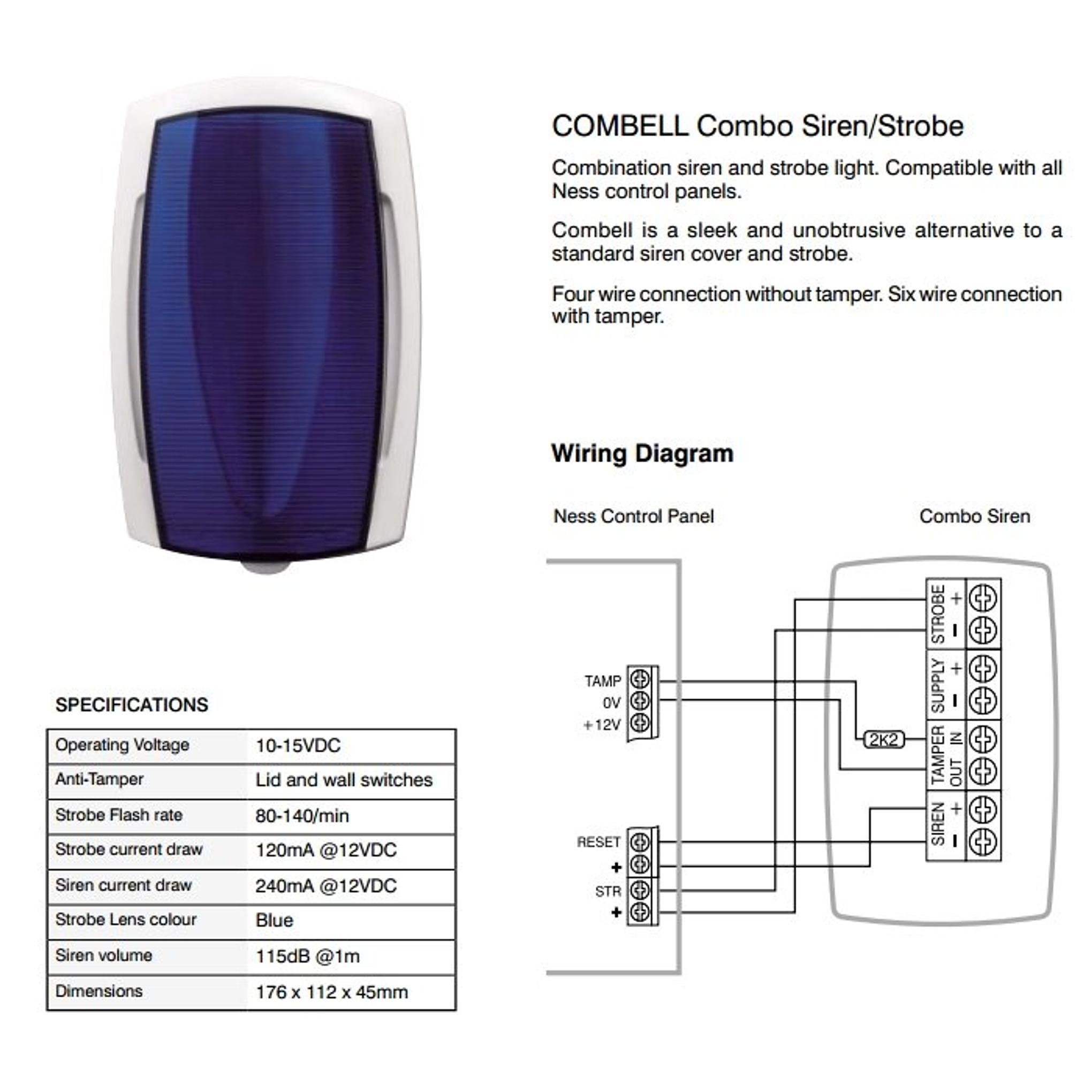 icentral combo siren strobe central outlet rh centraloutlet com au